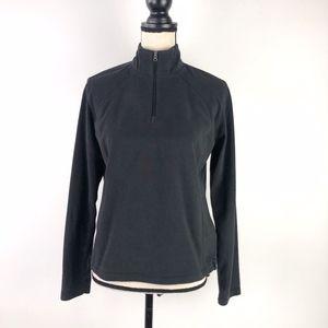 Columbia Half Zipper Fleece Black Sweater Size M